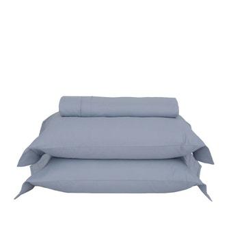 Kit Capa p/ Edredom Super King Buddemeyer Luxus Dallas Azul Nórdico 3 peças