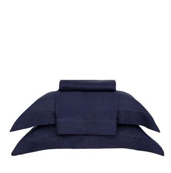 Jogo de Cama Queen Buddemeyer Luxus Linó Azul Noturno 4 peças