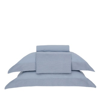 Jogo de cama Buddemeyer Luxus Martinelli Super King Azul Jeans 3 peças