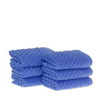 Kit 6 peças Toalha Mini Lavabo Buddemeyer Luxus Plume Air Azul