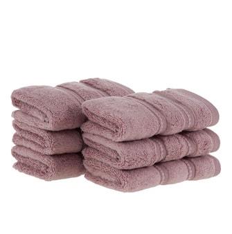 Kit 6 peças Toalha Lavabo Buddemeyer Luxus Baby Skin Air Rosa