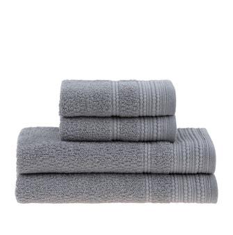 Jogo de toalhas Buddemeyer Olímpia Banho Cinza 4 peças