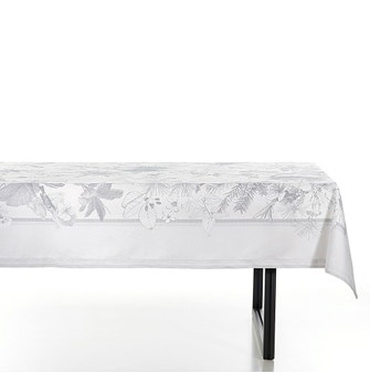 Toalha de Mesa Buddemeyer Leeds Retangular 160x270 Cinza Escuro