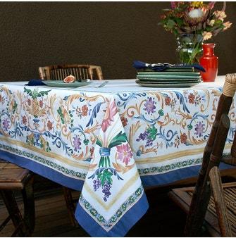 Toalha de Mesa Buddemeyer Sicily Retangular 160x220 Azul