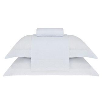 Jogo de Cama Super King Linho Buddemeyer Luxus Authentic Branco 4 peças