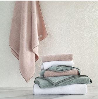 Toalha Rosto Buddemeyer Luxus Crochet Branco c/ ponto concha Cinza
