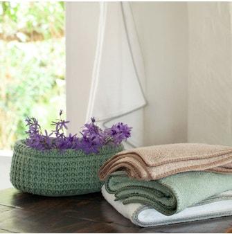 Toalha Banhão Buddemeyer Luxus Crochet Verde c/ ponto concha Verde