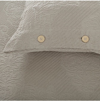 Kit Capa para Travesseiro Buddemeyer Medalhão 100% Algodão Penteado Bege 2 peças