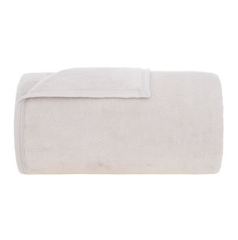 Cobertor Solteiro Buddemeyer Aspen 100% Poliéster Marfim