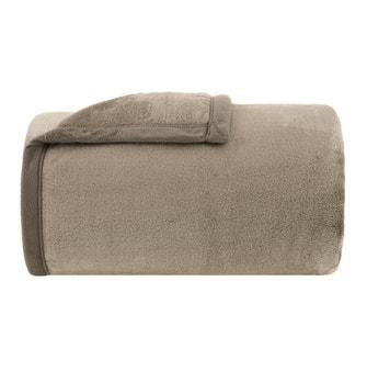 Cobertor Solteiro Buddemeyer Luxus Astor Kaki