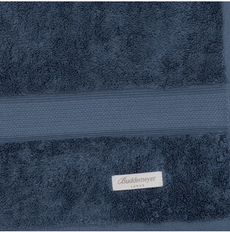 Kit 6 peças Toalha Lavabo Buddemeyer Luxus América Algodão Egípcio Azul