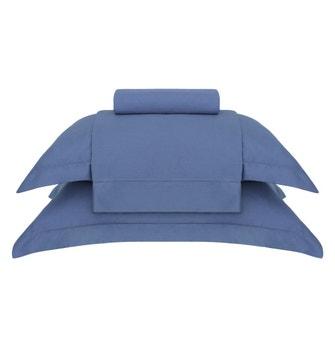 Jogo de Cama Queen Buddemeyer Essencial Azul Oásis 4 peças