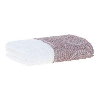 Toalha Lavabo Buddemeyer Luxus Rodes Branco c/ renda Rose