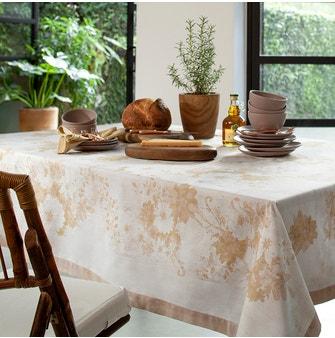 Toalha de Mesa Buddemeyer Granthan Retangular 160x220 Amarelo Ocre