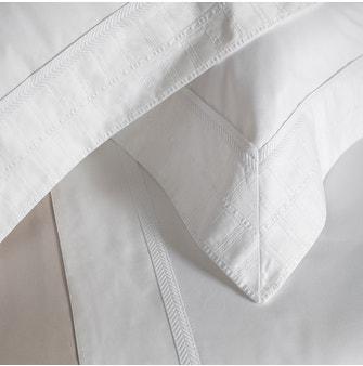Jogo de Cama Super King Cetim 600 Fios Buddemeyer Luxus Benatti 100% Algodão Penteado Branco c/ renda Branca 4 peças