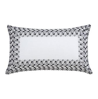 Almofada 30x50cm Buddemeyer Luxus Bizâncio Branco/Preto e Branco