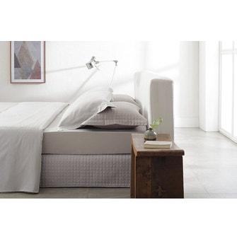 Saia para cama box Casal Cetim 270 Fios Buddemeyer Bud Vision New Colors II 100% Algodão Penteado Bege